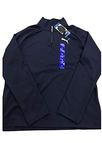 PUMA Men's Active ¼ Zip Pullover (M, Navy)