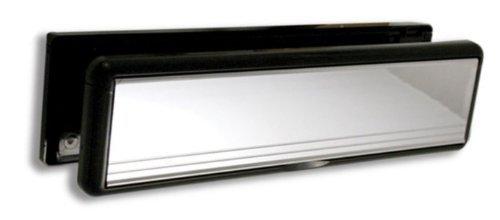 Plaque de boî te aux lettres HomesSecure HS2802 en UPVC, 30,5 cm, chrome 30 5cm Home Secure