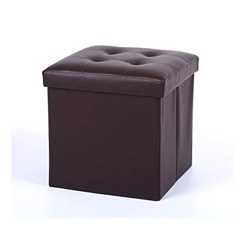 - Nesee Storage Folding Toy Box Chest with Memory Foam Seat Tufted Faux Leather Small Ottomans Bench Foot Rest Stool(Ship from US)