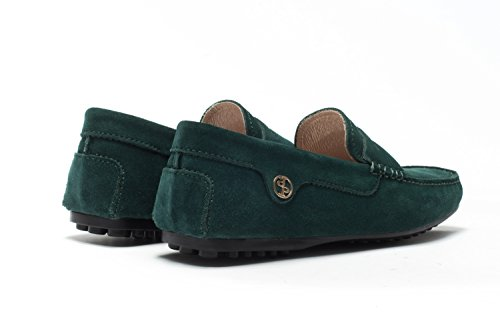 OPP Men's Classical Fashion Slip-on Driving Casual Loafer Shoes Loafers in Smooth Leather 2016 Collection Deep Green cheap 2014 h183X