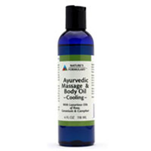 Ayurvedic Massage Oil, Cooling 4 oz by Natures Formulary (Pack of 3)