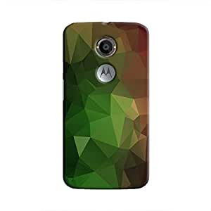 Cover It Up - Green and Red Pixel Triangles Motorola Moto X2 Hard Case