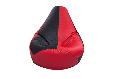 Styleco XXXL Bean Bag Cover Without Beans  Red and Black