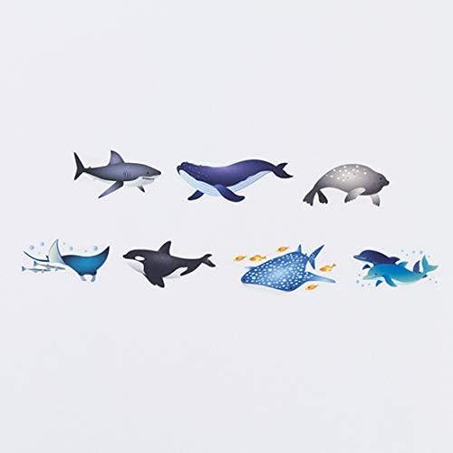 Bande Washi roll sticker Aquarium