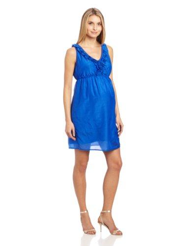 Ruffle Front Silk Dress - 6