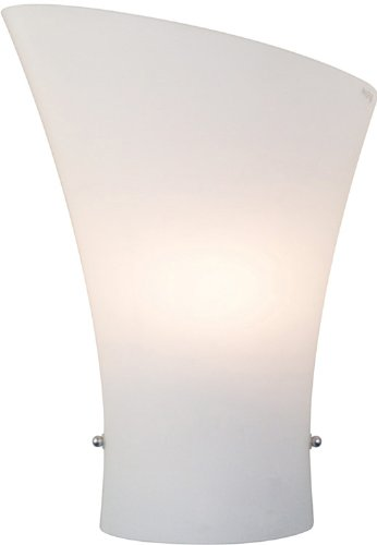 Frost Incandescent Sconce - ET2 E20413-09 Conico 1-Light Wall Sconce, Satin Nickel Finish, Opal White Glass, CA Incandescent Incandescent Bulb, 20W Max., Dry Safety Rated, 2900K Color Temp., Standard Dimmable, Shade Material, 588 Rated Lumens