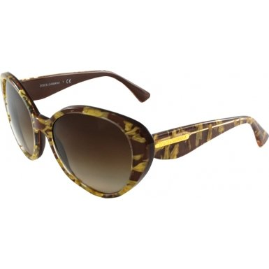 Dolce&Gabbana DG4198 Sunglasses-274613 Leaf Gold/Brown (Brown Grad - Leaf Gold Sunglasses And Dolce Gabbana