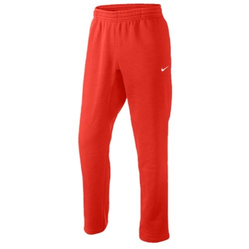 Nike Mens Club Swoosh SweatPants Challenge Red/White 611458-