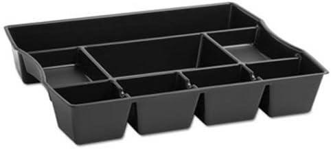 Amazon Com Nine Compartment Deep Drawer Organizer Plastic 14 7 8 X 11 7 8 X 2 1 2 Black Office Products
