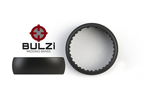 BULZi - Massaging Comfort Fit Silicone Wedding Ring - #1 Most Comfortable Men's and Women's Wedding Band - Round Edges with Flexible Work Safety Design