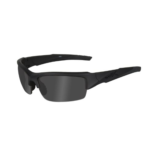 Wiley X Valor Ops Sunglasses, Grey/Black, Polarized Smoke ()