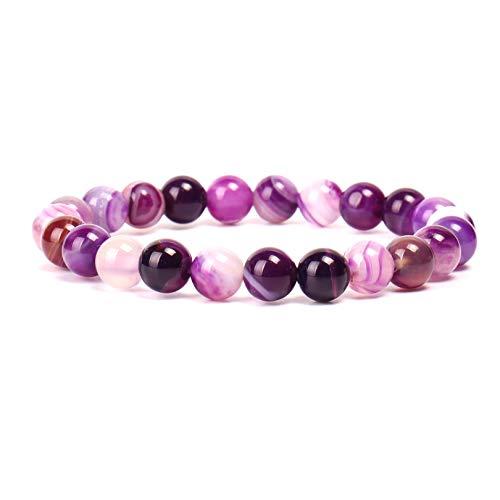 et Gem Semi Gemstone Bracelets Natural Stones Healing Power Crystal Elastic Round 8mm Ball Beads Stretch Beaded Bracelet 7