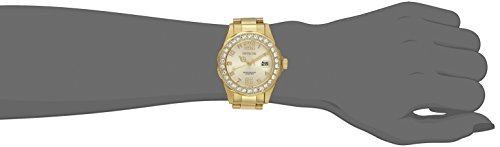 Invicta Women's 21397 Pro Diver 18k Gold Ion-Plated Stainless Steel Watch with Crystals 2
