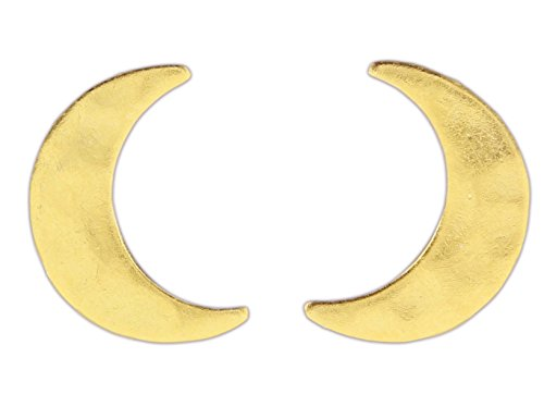Nature Cast Metalworks Post Earrings (Gold-Plated Crescent Moon) ()