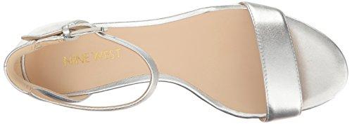 Nine West Women's Fields Metallic Dress Sandal Silver Fx5KrHdh4