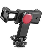 GLASSNOBLE Universele telefoon statief mount met hot shoe mount 360 ° draaibare en verstelbare klemhouder smartphone clip adapter