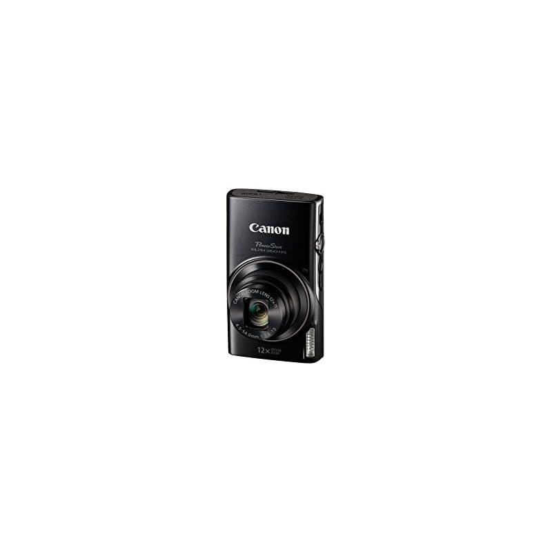 Canon PowerShot ELPH 360 Digital Camera w/12x Optical Zoom Image Stabilization - Wi-Fi & NFC Enabled (Black)