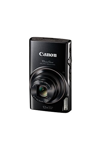 Canon PowerShot ELPH 360 Digital Camera w/ 12x Optical Zoom and Image Stabilization – Wi-Fi & NFC Enabled (Black)