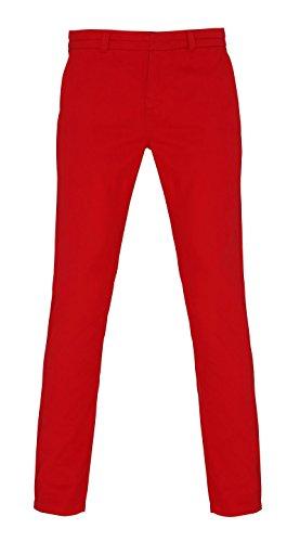 Unbekannt - Pantalón - para mujer Rojo Cereza