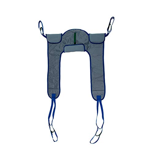 Deluxe Padded Toileting Patient Lift Sling, with Belt, Size (Large), 450lb Weight Capacity by Patient Aid