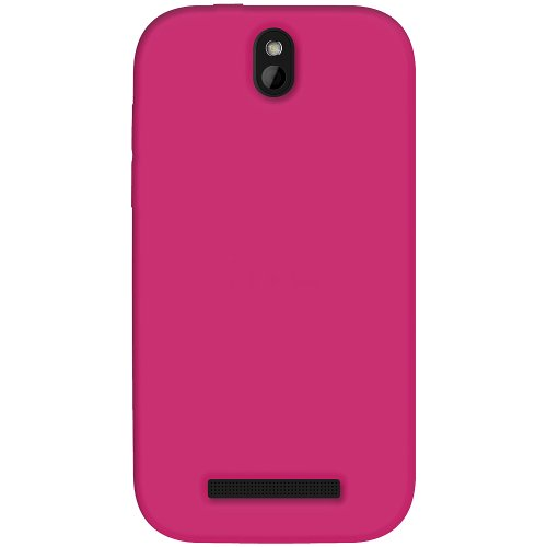 Amzer AMZ95617 Soft Silicone Jelly Skin Fit Case Cover for HTC One SV, Cricket HTC One SV, Boost Mobile HTC One SV - 1 Pack - Skin - Retail Packaging - Hot Pink ()
