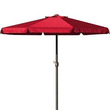 dc1e025651 Deuba Garden umbrellas crank handle red Patio umbrella garden parasol sun  shade parasols