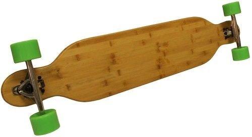 竹ドロップthrough Longboard Skateboard Fiber Flex Complete B01N3CMFF5