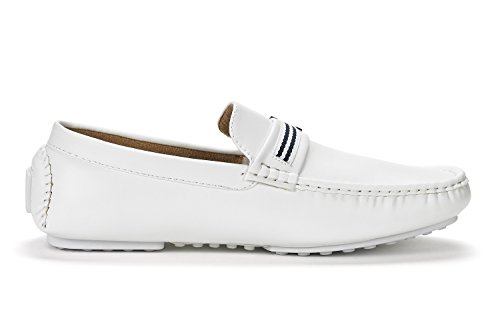 YORK BRUNO 03 white Men's Moccasins Pu Shoes MARC 5 NEW Penny Santoni Loafers qqwaE