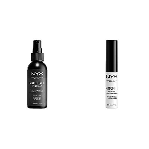 NYX PROFESSIONAL MAKEUP Make Up Setting Spray Matte Finish and Proof It! Waterproof Eyeshadow Primer, Pack of 2