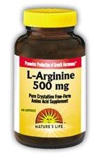 L-Arginine 500mg Nature's Life 50 Caps