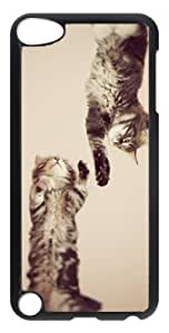 Fashion Customized Case for iPod Touch 5 Generation Black Cool Plastic Case Back Cover for iPod Touch 5th with CAT