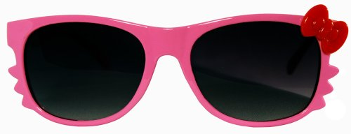 Kitty Whiskers Pink w/Red Bow Dark Shade Lens - Stussy Sunglass