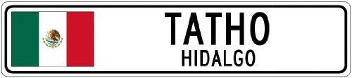 Custom Street SignTATHO, HIDALGO - Mexico Flag City Sign - 3x18 Inches Aluminum Metal Sign