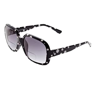 Oversized Bifocal Reading Sunglasses 100% UVA/UVB Protection by ICU (1.50, Black)