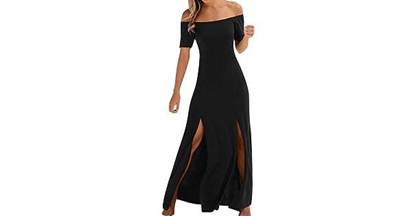 Amazon.com: Vestido de manga corta para mujer, para verano ...