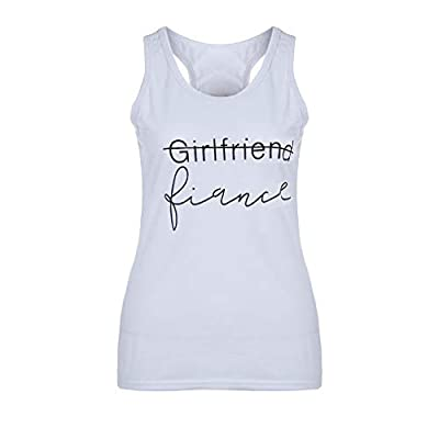 TWGONE Girlfriend Fiance Shirt Womens Sleeveless Tank Top Beach Print Scoop Neck Tunic