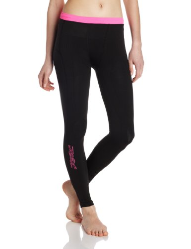 Zoot Sports Women's Ultra 2.0 CRX Tights, Black/Pink Glow, 2