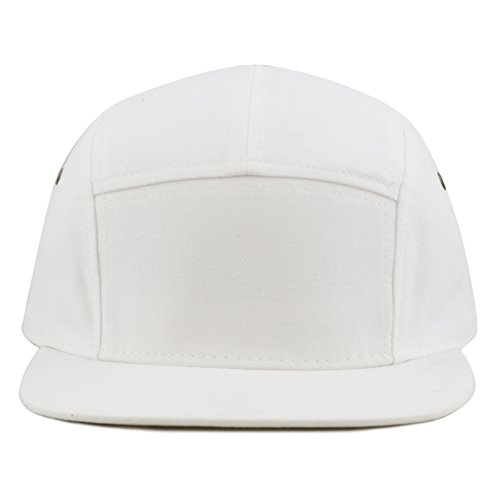 white 5 panel hat - 1