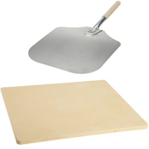 Kitchen Supply Pizza Peel & Old Stone Oven Stone Bundle by Kitchen Supply
