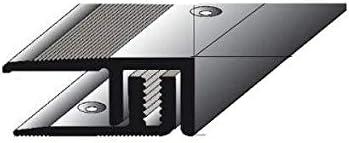 f/ür eine H/öhe von 5 5 Meter gebohrt Alu eloxiert 21 mm breit Abschlussprofil Laminat Parkett 9 mm 5 x 1 m 2-teilig