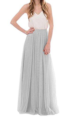 Future Girl Women's Maxi Skirts High Waist Holiday Formal Skirt (S, ()