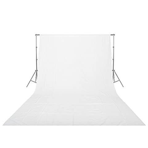 Emart 6x9 ft Photo Video Studio Photography Muslin 100% Cotton Collapsible Backdrop Background Screen, 4 Multifunctional Clips - Black And White Sweep