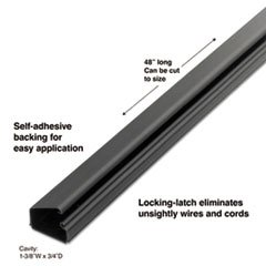 - 1-1/2 Locking Channel, Black, 1/Pack ()