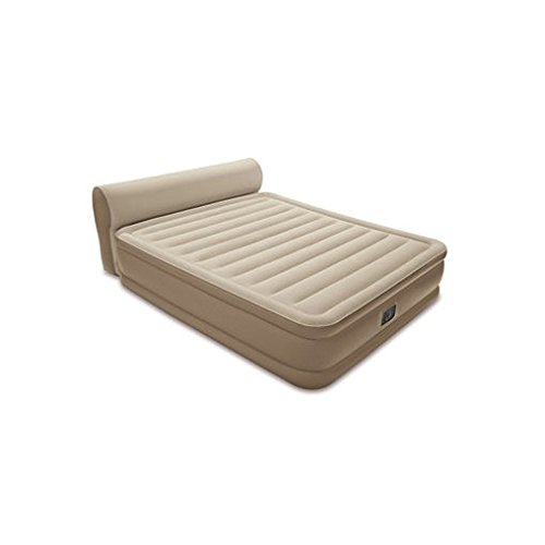 Intex Queen Dura-Beam Series Headboard Airbed with Built in Pump