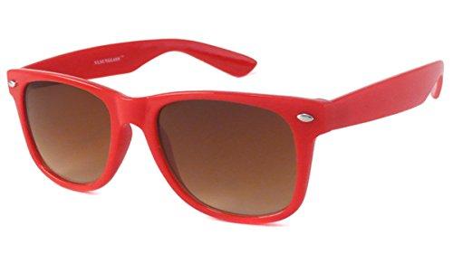 66b94c45c7 Amazon.com  UrbanSpecs Classics Wayfarer Sunglasses - Red Frame ...