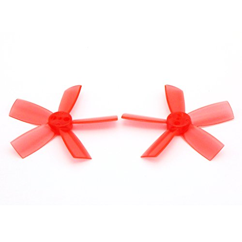 8 Pairs DYS 1735 Propellers 1.7 Inch 5-Blade PC Prop for FPV RC ELF Micro Drone (Red)