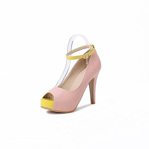 Adee Ladies Metalornament high-heels Poliuretano Sandalias Rosa - rosa