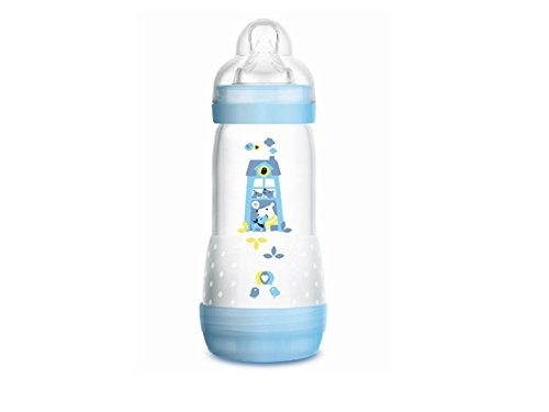 MAM Easy Start Anti Colic Bottle with Teat Debit 3320Ml for Boy Blue 0+ ()