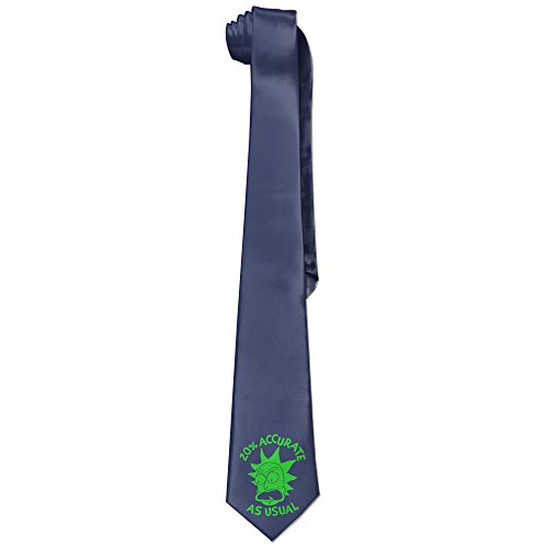 [Ggift Rick 20% Accurate As Usual Morty Mens Fashion Business Solid Necktie Neck Tie] (Matt Barkley Costume)