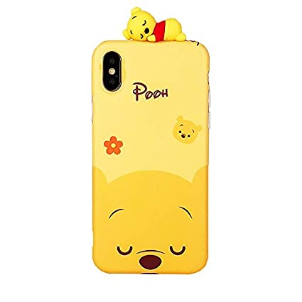 best sneakers 669ee d510d Ultra Slim Soft TPU Winnie The Pooh Bear Case for iPhone X XS iPhoneX  Shockproof Shock Proof Walt Disney Cartoon Stylish Cute Lovely Cool Fun  Girls ...